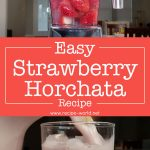 Easy Strawberry Horchata Recipe | Fresh Strawberry Milk Drink | Aguas Frescas Recipe