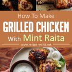 Grilled Chicken With Mint Raita