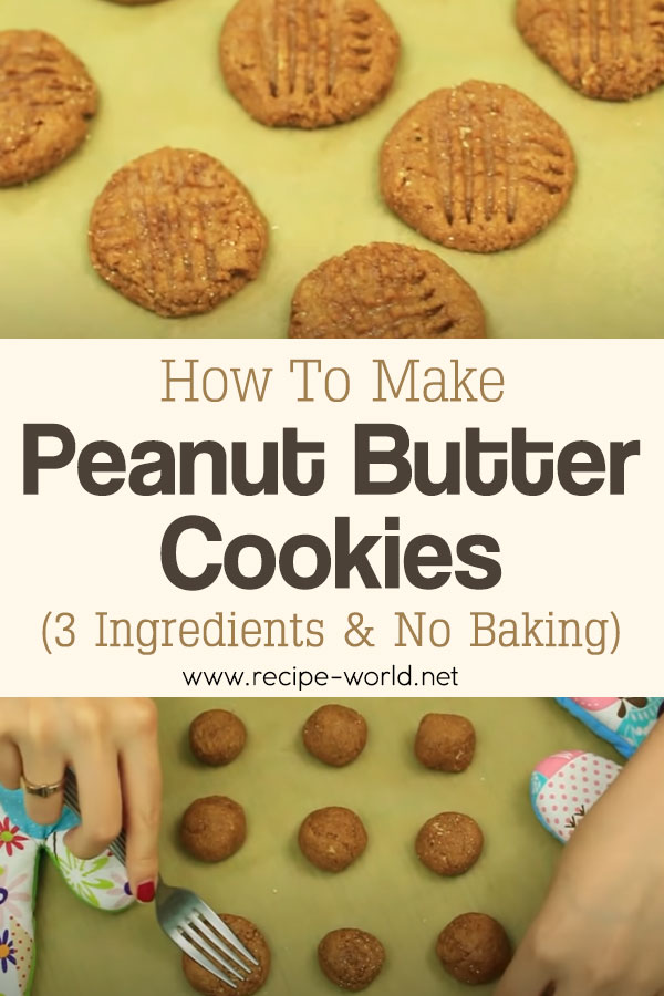 How To Make Healthy Peanut Butter Cookies! 3 Ingredients & No Baking