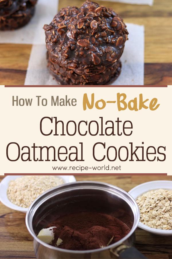 No-Bake Chocolate Oatmeal Cookies Recipe