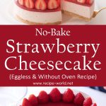 No-Bake Strawberry Cheesecake | Eggless & Without Oven
