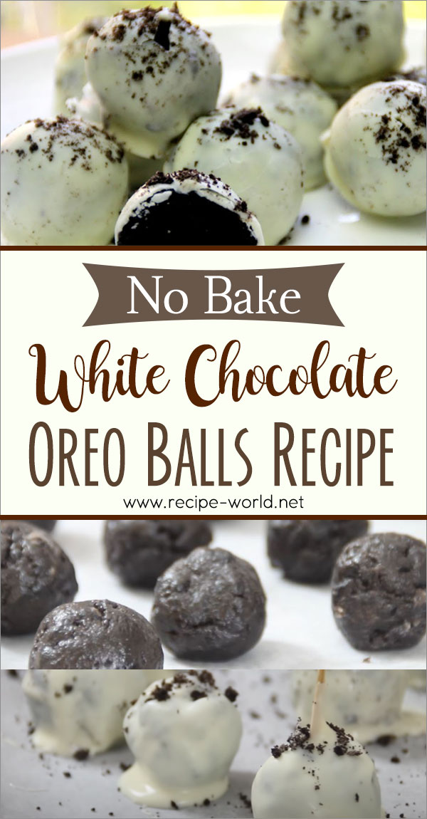No-Bake White Chocolate Oreo Balls