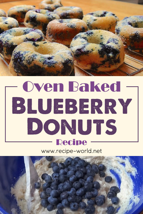 Oven Baked Blueberry Donuts