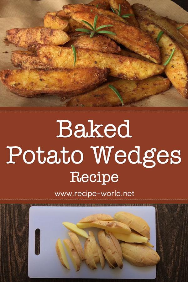 Potato Wedges Recipe - How To Make Baked Potato Wedges