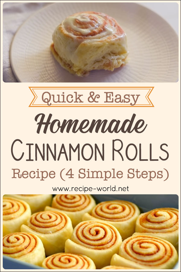Quick And Easy Homemade Cinnamon Rolls Recipe