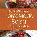 Quick and Easy Salsa Recipe – Homemade Salsa From Scratch