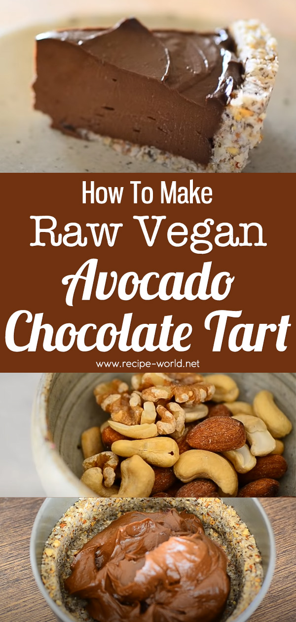Raw Vegan Avocado Chocolate Tart