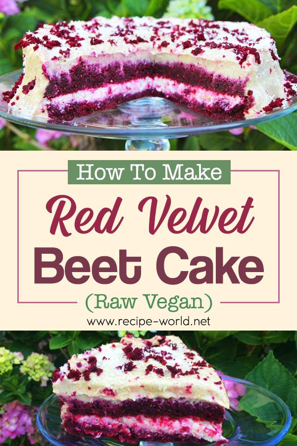 Red Velvet Beet Cake! (Raw Vegan)