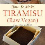 How To Make Tiramisu (Raw Vegan)