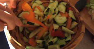 Raw Cucumber Tomato Salad