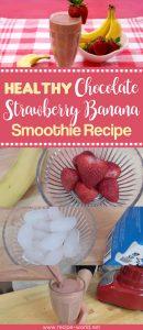 Healthy Chocolate Strawberry Banana Smoothie Recipe