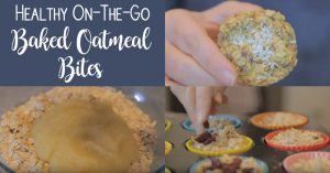 Healthy On-The-Go Baked Oatmeal Bites