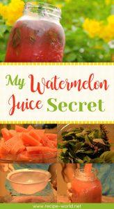 My Watermelon Juice Secret