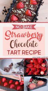 No Bake Strawberry Chocolate Tart Recipe