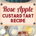 Rose Apple Custard Tart Recipe