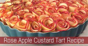 Rose Apple Custard Tart Recipe