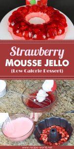Strawberry Mousse Jello Low Calorie Dessert