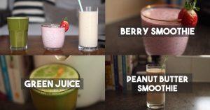 Three Tasty Juice & Smoothie Recipes