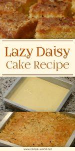 Lazy Daisy Cake Recipe Demonstration