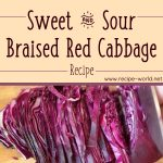 Sweet & Sour Braised Red Cabbage Recipe