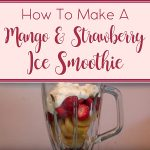 Mango & Strawberry Ice Smoothie