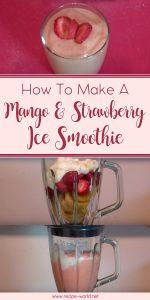 Mango & Strawberry Ice Smoothie