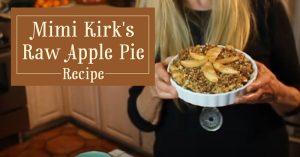 Mimi Kirk's Raw Apple Pie