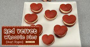 Red Velvet Whoopie Pies (Heart Shaped)