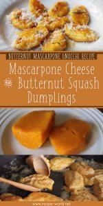 Butternut Mascarpone Gnocchi Recipe - Mascarpone Cheese And Butternut Squash Dumplings