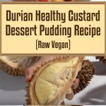 Durian Healthy Custard Dessert Pudding Recipe (Raw Vegan)