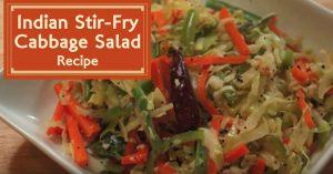 Indian Stir-Fry Cabbage Salad Recipe