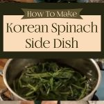 Korean Spinach Side Dish
