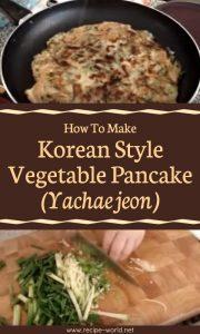 Korean Style Vegetable Pancake (Yachaejeon)