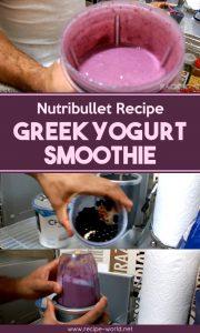 Nutribullet Recipe: Greek Yogurt Smoothie