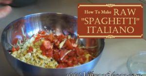 Raw Spaghetti Italiano