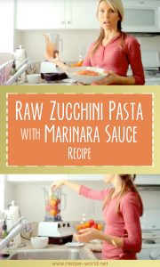 Raw Zucchini Pasta With Marinara Sauce Recipe