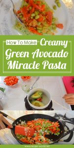 Creamy Green Avocado Miracle Pasta (Food Bite)