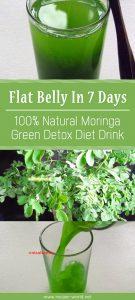 Flat Belly In 7 Days - 100% Natural Moringa Green Detox Diet Drink