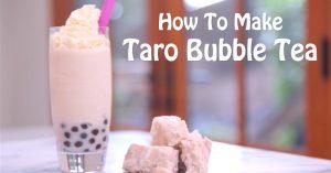 How To Make Taro Bubble Tea (Smoothie Recipe)