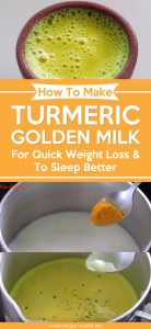 How To Make Turmeric Golden Milk - For Quick Weight Loss & To Sleep Better
