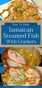 Jamaican Steamed Fish With Crackers