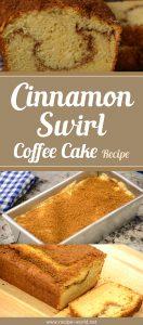 Cinnamon Swirl Coffee Cake Recipe Demonstration
