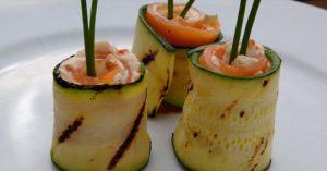Grilled Zucchini And Smoked Salmon Rolls Recipe