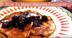 Healthy Breakfast Recipe - How To Make Banana Pancakes - Flourless, Gluten-Free, Low-Fat