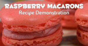 Raspberry Macarons Recipe Demonstration