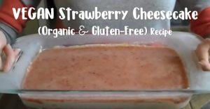 Vegan Strawberry Cheesecake - Organic & Gluten-Free