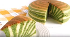 Zebra Stripe Japanese Cotton Cheesecake (Gluten Free)