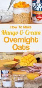 Mango And Cream Overnight Oats