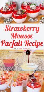 Strawberry Mousse Parfait