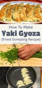 How To Make Yaki Gyoza (Fried Dumpling Recipe)